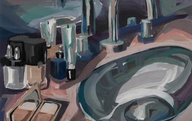 Morning splash, 25[25 cm. oil, canvas