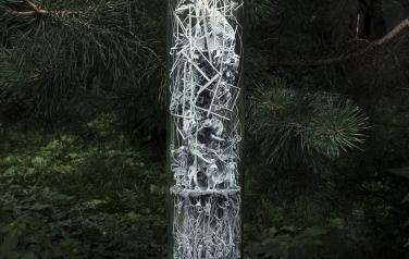 Evolutionary Substance, 60x10 cm. polymers, 3D printing, plexiglass, 2020
