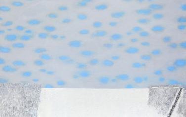 Первый снег. Холст, масло. 2008. 100х100.
