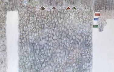 Зимний сад. 2009. Холст, масло. 130х140.