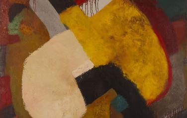 Н. Ситникова, №12 из серии Осязание, 120х120 см., холст, масло