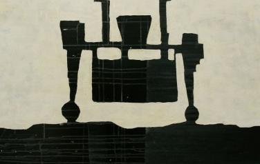 А. Чумак. Стратиграфия № 3. 2012. 105х105. Холст, акрил.