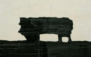 А. Чумак. Стратиграфия № 4. 2012. 105х105. Холст, акрил.