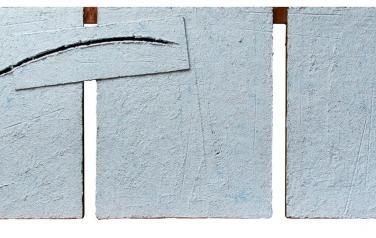 Диалог. 65х185. 2011. Дерево, пенокартон, бум.масса, рельеф