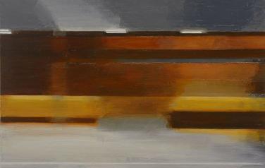 Движение по горизонтали 2. 2012. Дерево, масло, 50х60_1