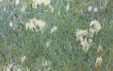 Пух цветов, 100х150 см., холст, масло, 2018 г.