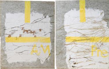 Я есьмь присутствие. части 1-4 Четырехчастная композиция. 1993. Пластик, бумажная масса, смеш. тех. 73х60