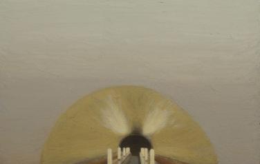 Клаустрофобия. Вниз. 2011. Дерево, масло, 50х60_1