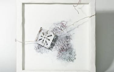 Poems in white№12 50х50 ассамбляж_1