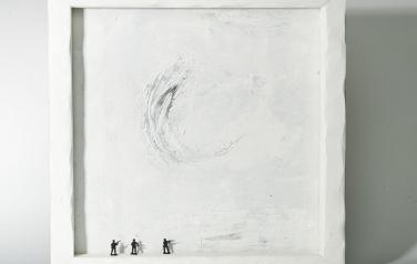 Poems in white№14 50х50 ассамбляж_1
