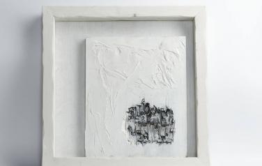 Poems in white№4 50х50 ассамбляж_1
