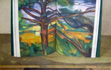 Rakuzin_Cezanne. Tree, 1991, paper, color pencils, 75х95cm