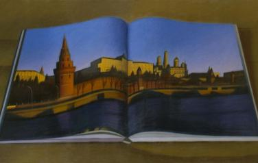 The Kremlin, oil on canvas, 114x195cm, 2009.