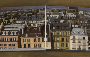 The roofs of Paris, oil on canvas, 60x120cm, 2008-2009