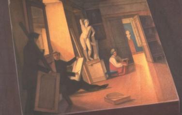 В честь Александра Юликова. 2004. Бумага,акварель, цв. карандаш. 104х104cm