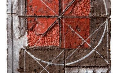 Земля. 72Х56. 2006. ДСП, бум.масса с добавлением земли и соли, акрил