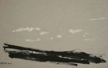 Дмитрий Гутов. Пейзаж Тенерифе №1, холст, масло, 60х100, 2011
